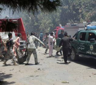 GFATF - LLL - Suicide car bomber killed nine people at military checkpoint in south Afghanistan