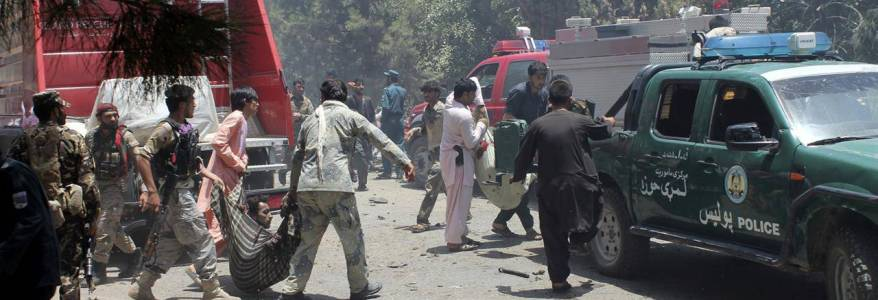Suicide car bomber killed nine people at checkpoint in south Afghanistan
