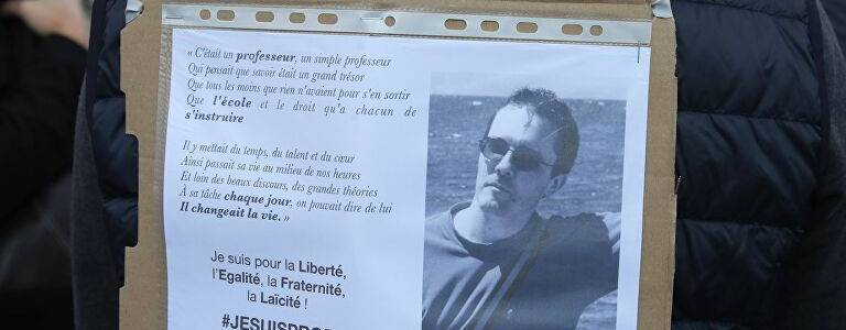 Islamic State terrorists warn that swords will not stop after the gruesome beheading of Paris teacher Samuel Paty
