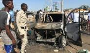 Suicide car bomb targeting convoy in Somali capital killed at least eight people
