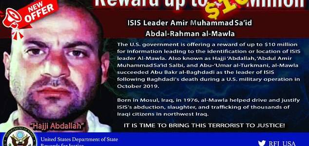 Islamic State deputy caliph who was terror group's leader in Iraq killed in military strike