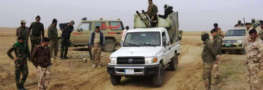 Iraqi soldier wounded in an Islamic State attack in Diyala