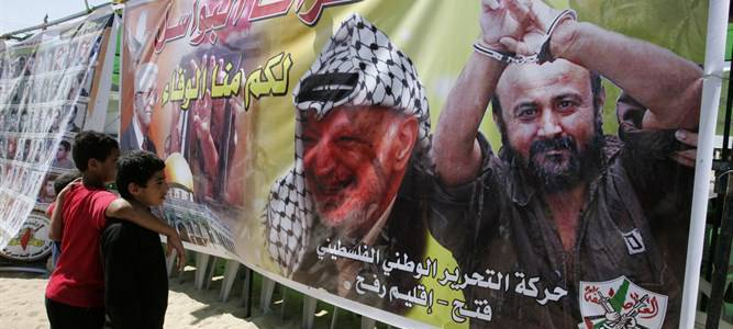 Mahmoud Abbas sends greetings to a convicted terrorist Marwan Barghouti