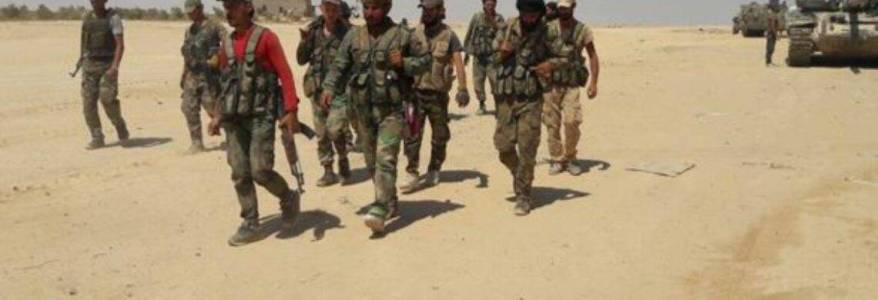 Syrian army and Islamic State terrorists engage in fierce battles in central Syria