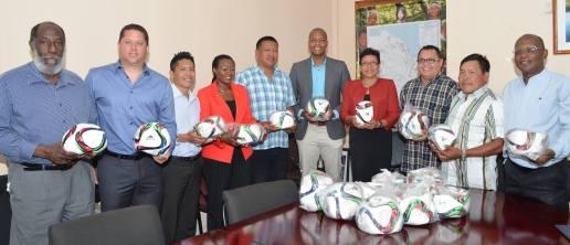 GFF footballs donation