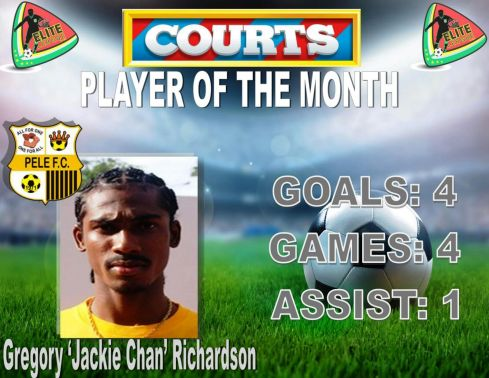 Richardson COURTS PLAYER OF THE MONTH