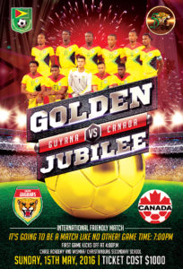 Golden Jubliee Football Guyana-Canada Olympic Team