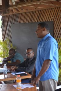 Ken Grant, RFA President, addresses the meeting