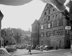 """Blick auf den """"Kratz"""" vom Schadenhof. Um 1964"""