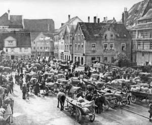 Alter Postplatz nach Süden. 1930