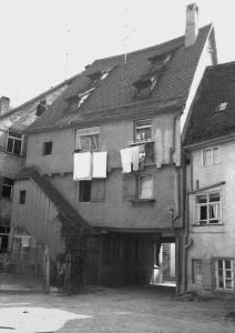 Radgassen-Häuser von der Rückseite. Um 1964