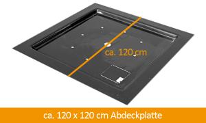 GFK-Abdeckplatte 120 x 120 cm