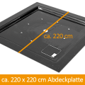 GFK-Teichabdeckung 220 x 220 cm