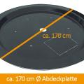 GFK-Beckenabdeckung 170 cm