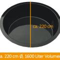 Fertigteich 220 cm Durchmesser