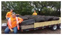 Source reduction - collecting old tires