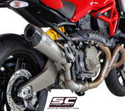 DUCATI MONSTER 821 EXHAUST CONICAL TITANIUM