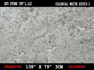 COLONIAL WHITE #3003-1-CLOSEUP