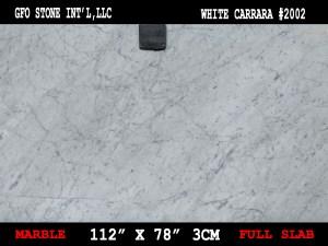 WHITE CARRARA 3cm #2002