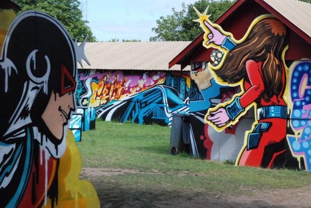 Roskilde havde igen i år masser af graffiti på pladsen