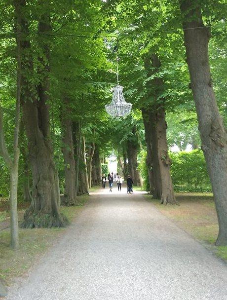Lysekrone i træerne, classy!