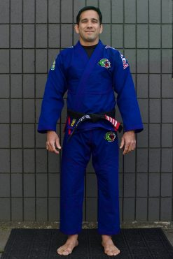 GFTeam Canada mens blue gi red accent front