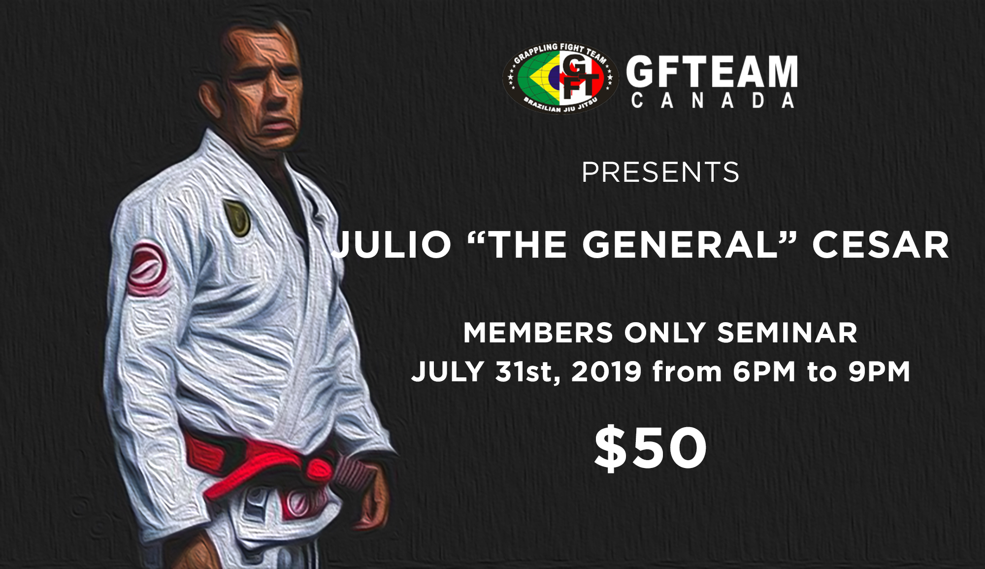 """JULIO """"The General"""" CESAR, founder of GFTeam"""