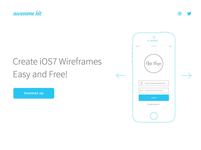 Awesome UX Kit – AI wireframe templates - Free Graphics