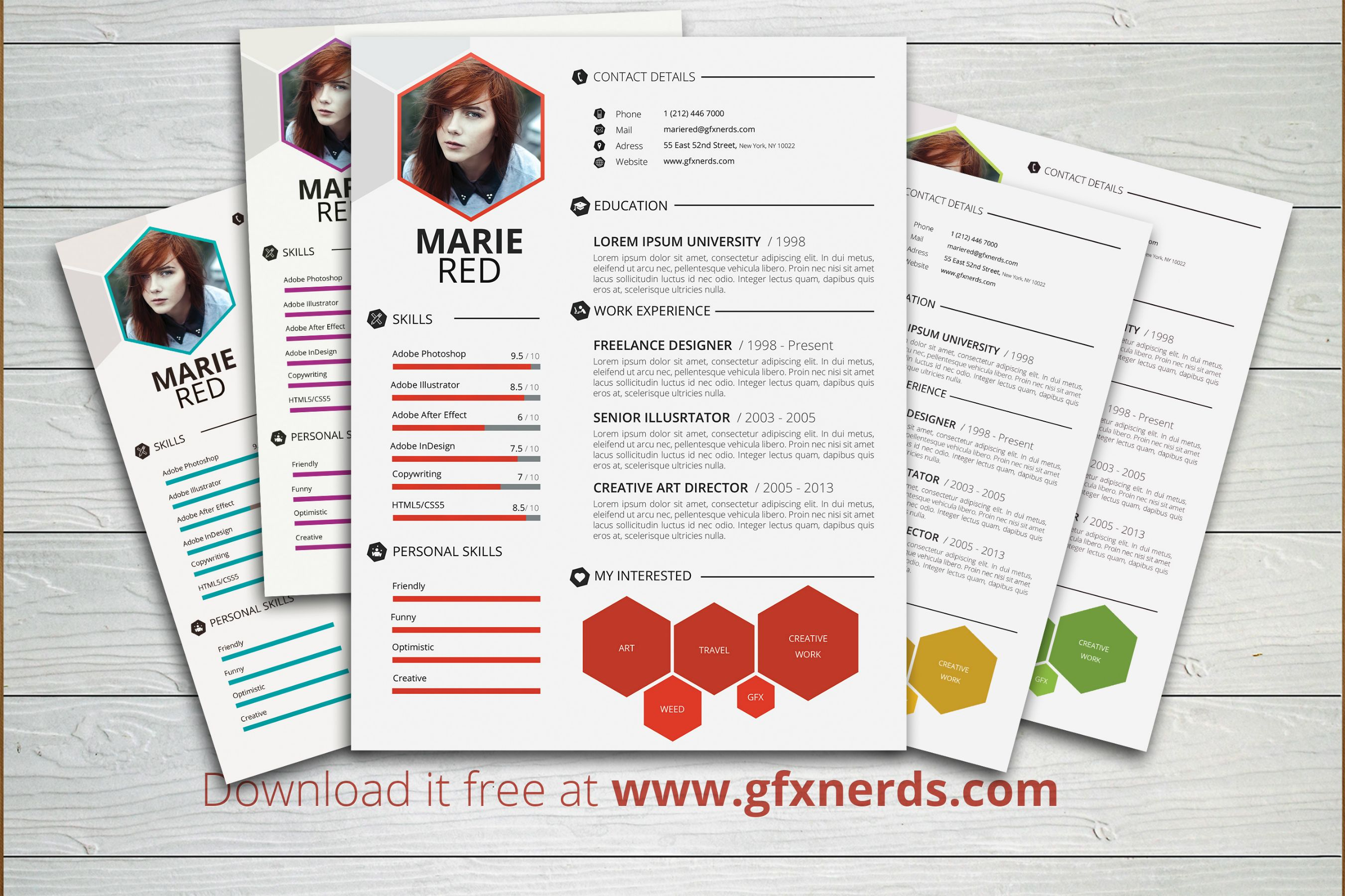 Clean Professional Resume Template Psd Free Graphics
