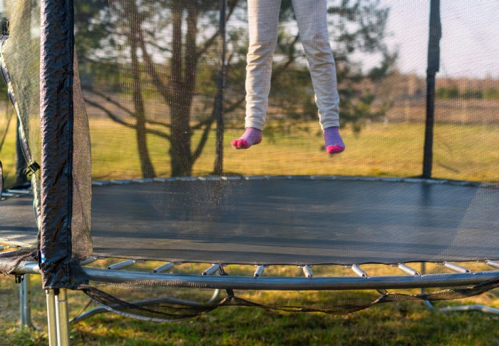 Trampoline in de tuin; do's en don'ts