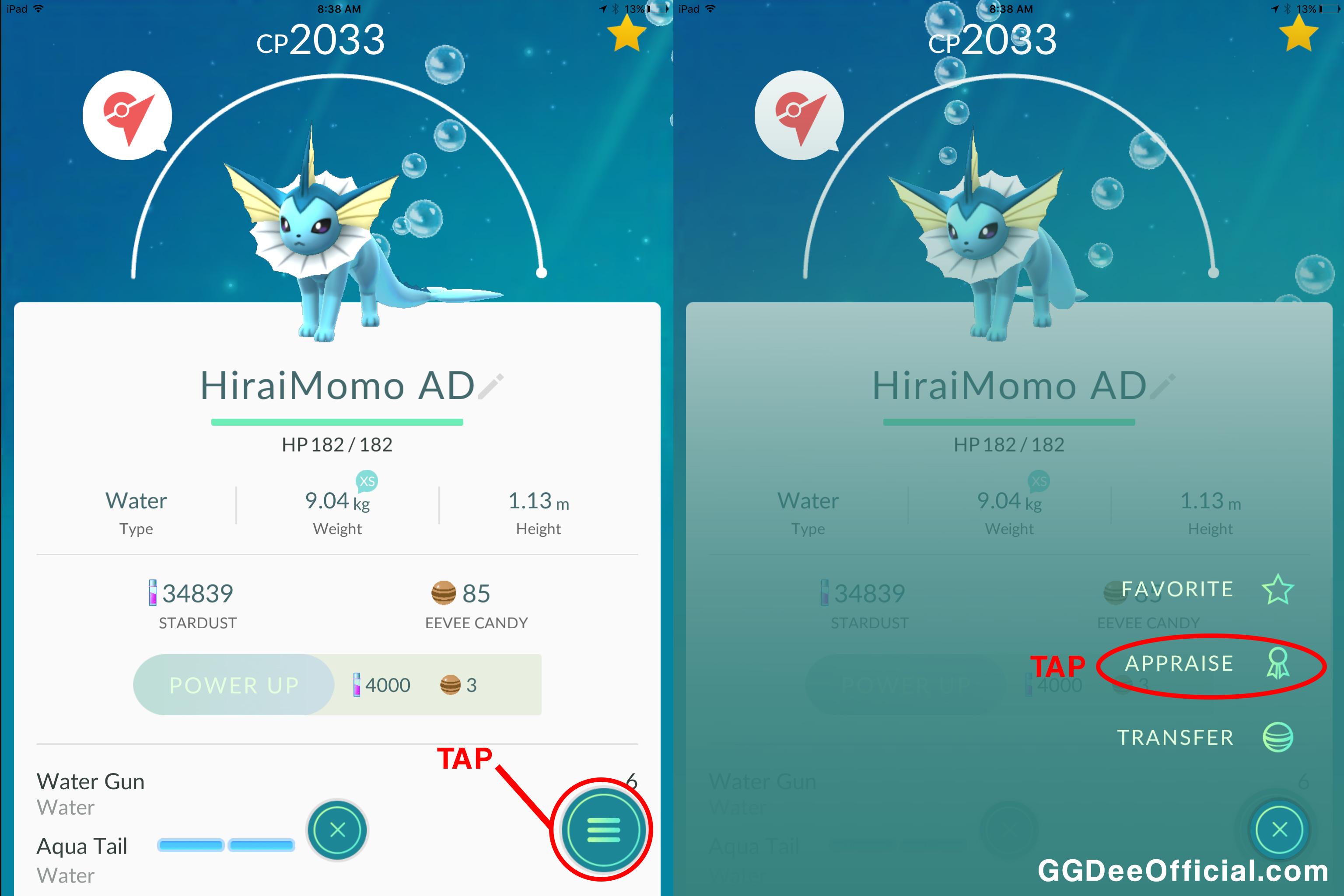 Pokémon GO Appraisal guide - ggdeeofficial.com