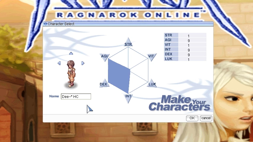 ro character creation screen