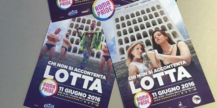 Plakate der Roma Pride