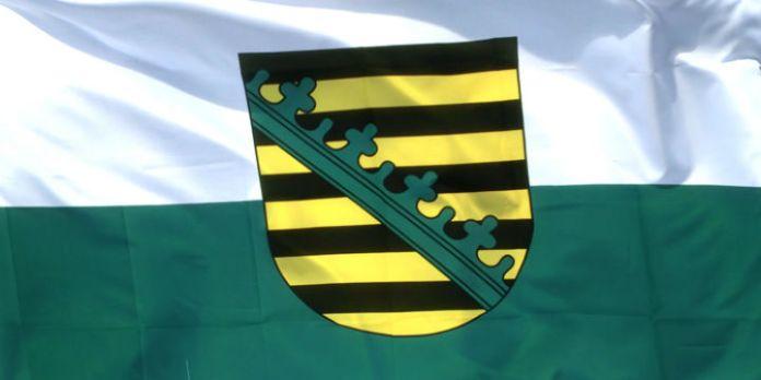 Flagge von Sachsen