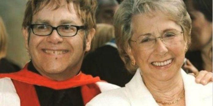 Elton John und seine Mutter