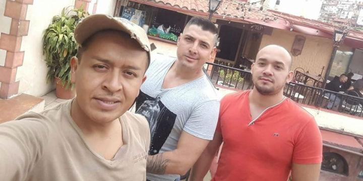 Rubén Estrada, Roberto Vega und Carlos Uriel López