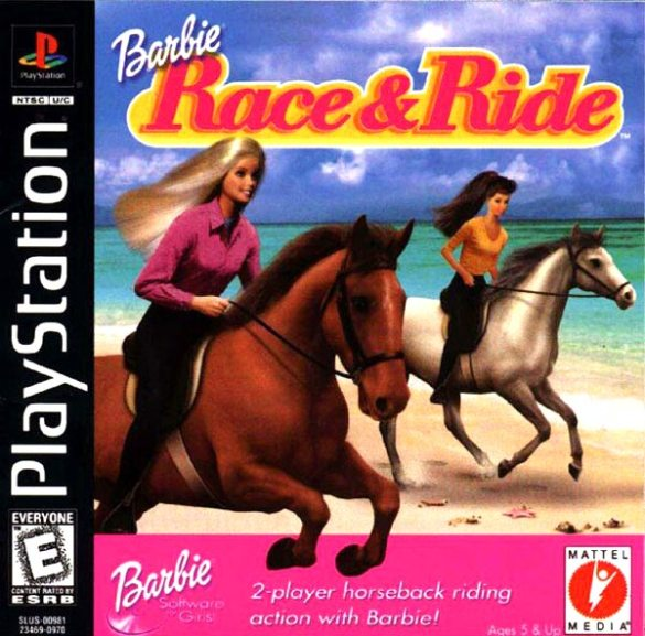 Barbie Race & Ride playstation box art