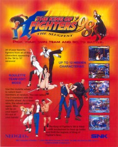 The King of Fighters '98: The Slugfest arcade box art