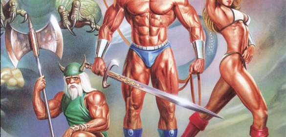 Golden Axe mega drive box art
