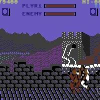 Street Fighter c64 screenshot