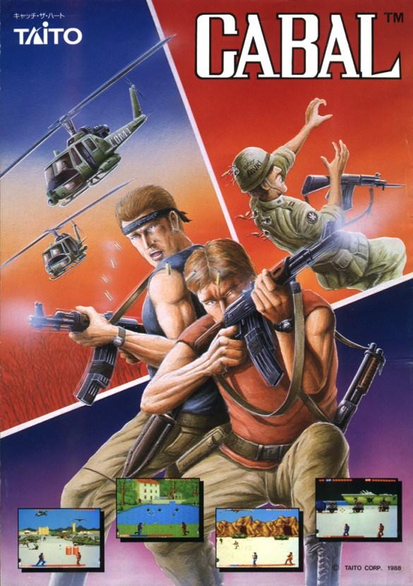 Cabal Arcade Game Flyer