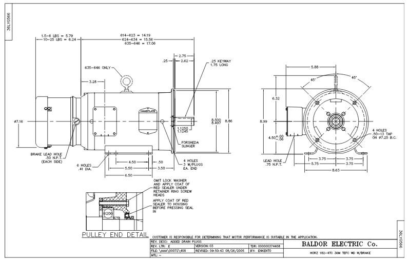 Nema Frame 182tc Dimensions | Siteframes.co