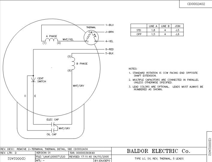 Baldor Motor Wiring Diagrams Single Phase  impremedia
