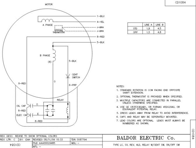 l1410t baldor electric motors wiring diagrams  breaker