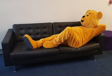 A tired Pudsey relaxing..