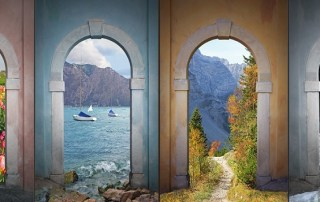 four seasons through arches