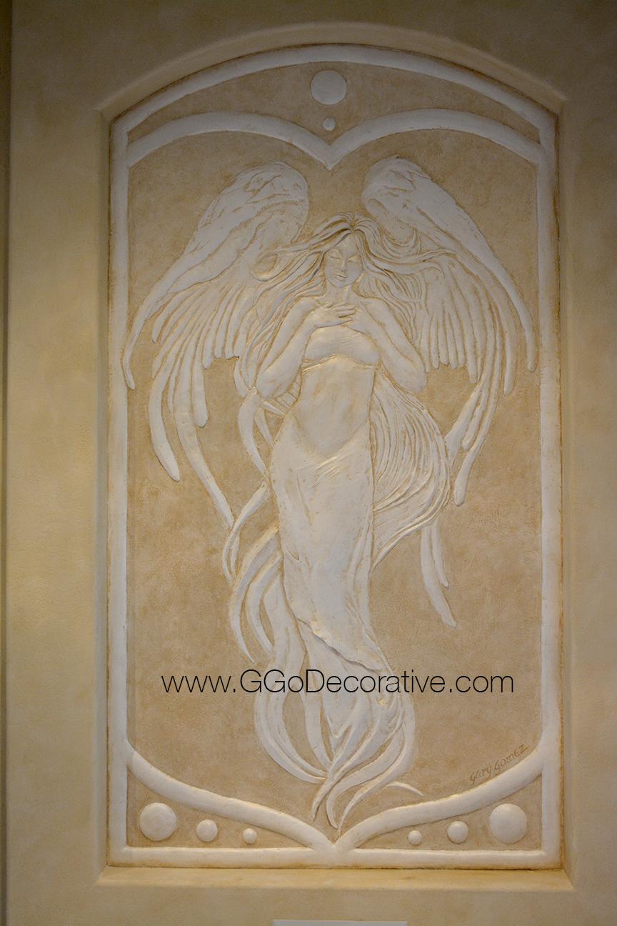Sculptural Mural Bas Relief Custom Wall Art GGo Decorative