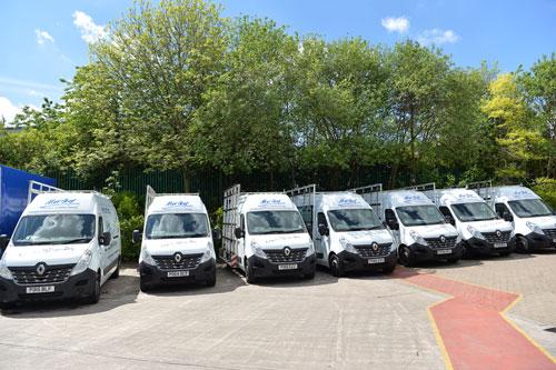 Part of Morley's growing fleet of Renault vehicles