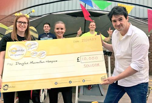 Solidor and McDermott Windows raise money for the Douglas Macmillan Hospice