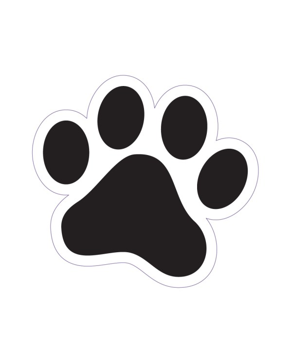 "Cat Track Magnet or Sticker for Indoor or Outdoor Use 1.7"" x 1.6"""